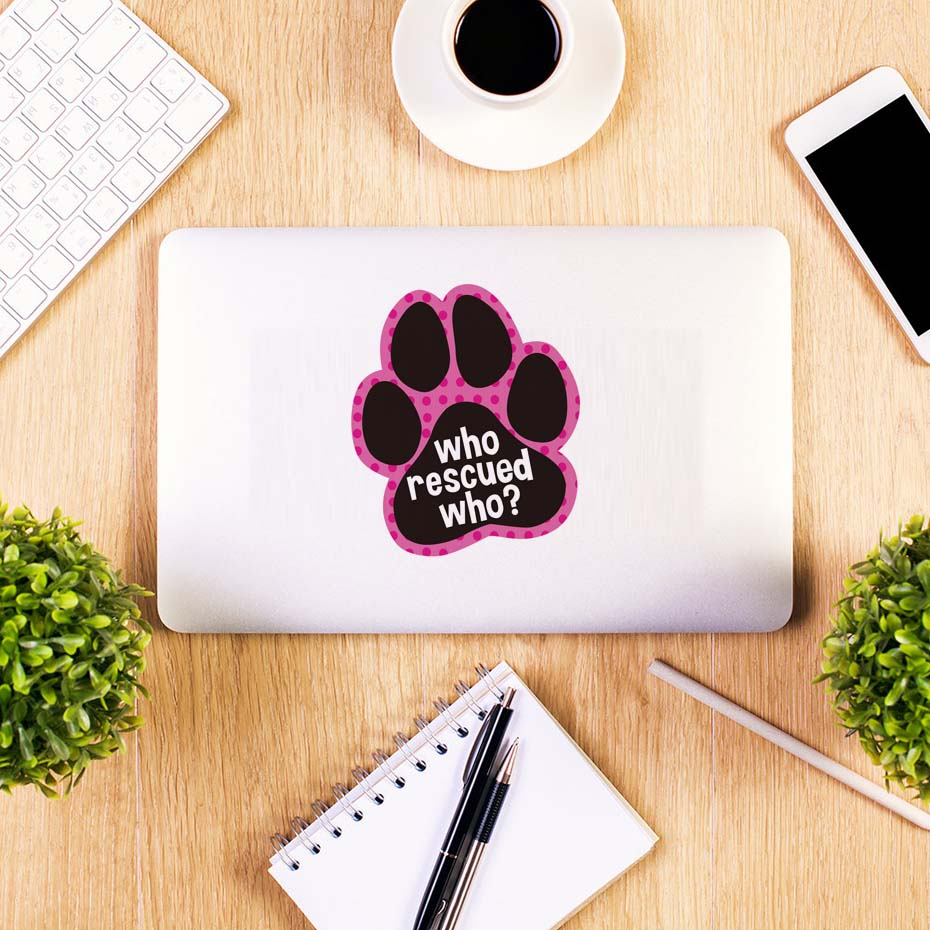 Cute Dog Cat Paw Laptop Sticker Paw Foot Prints Wall Stickers Removable Vinyl Wallpaper For Car Window Bumper Diy Home Decor