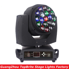 цены Free Shipping 19*15W 4IN1 RGBW LED Bee Eye Moving Head Beam+Wash Light , LED Moving Head Beam Light For Stage Disco Laser Light