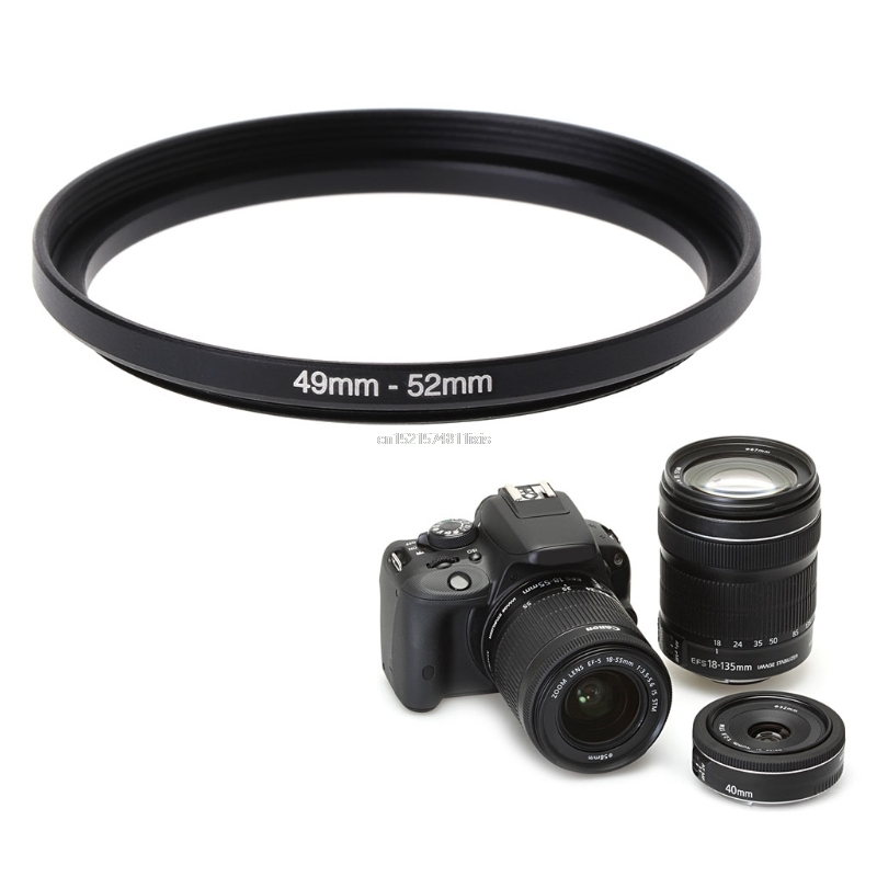 52mm To 49mm Metal Step Down Rings Lens Adapter Filter Camera Tool Accessory