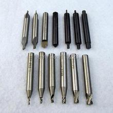 17 шт. полный набор Концевая фреза для всех ключей режущий станок слесарные инструменты фрезы сверла стальная дрель
