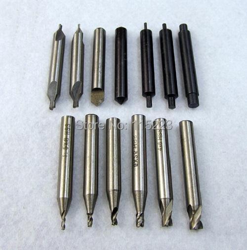 17ピースフルセットエンドミルフライスカッターすべてのキー切断機鍵屋ツールカッタービット鋼ドリル