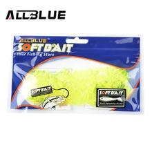 ALLBLUE Mini Fishing Lure Soft Bait Lure 25mm/0.27g 100pcs/lot 5 Colors Grub Worm Carp Fishing Tackle Isca Artificial