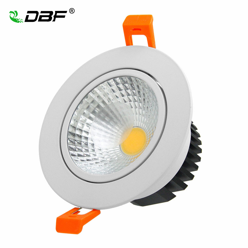 [DBF]High Bright Dimmable 6W 9W 12W 15W LED Downlight Frosted Glass Lens LED Recessed Ceiling Light Spotlight AC110V/220V+Driver 20pcs 12w led light panel smd 5730 ic driver pcb input voltage ac110v 130v needn t driver aluminum plate free shippping