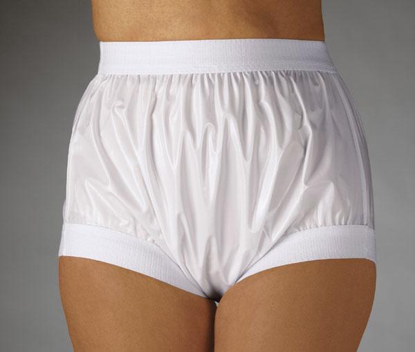 Envío Libre FUUBUU2207-White-S-1PCS Amplia elástica pantalones de plástico para adultos no pantalones para bebés pañales para adultos pañal de tela