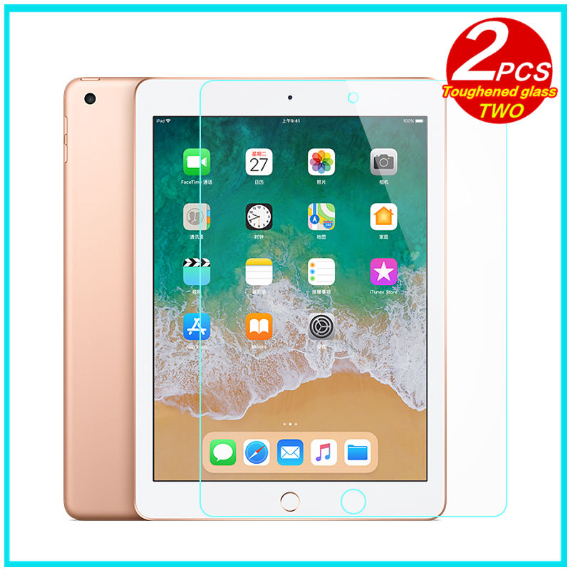 цена на Tempered Glass membrane For iPad 9.7 inch 2018 Steel film Tablet Screen Protection Toughened for New iPad 9.7