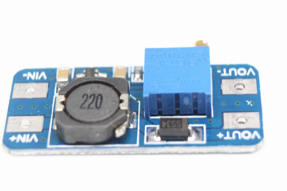 Image 2 - Free shipping 100PCS MT3608 2A boost plate DCDC boost module 2 24V up 5/9/12/28V adjustable-in Integrated Circuits from Electronic Components & Supplies