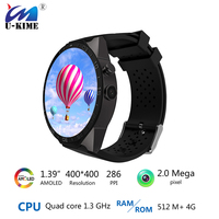 Best Kingwear Kw88 Android 5 1 OS Smart Watch 1 39 Inch Scrren Mtk6580 SmartWatch Phone