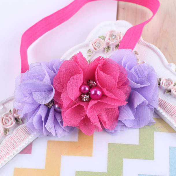 TWDVS Flor recién nacida Elástico Banda para el cabello Niños - Accesorios para la ropa - foto 4