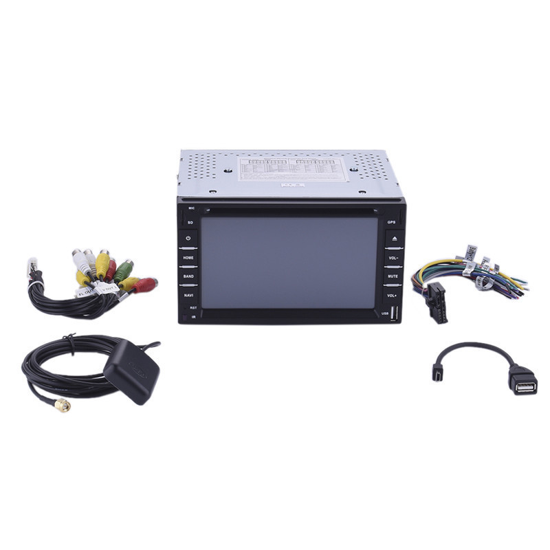 6 2 Din Car Player Navigation Radio Multimedia HD Entertainment System for Car With DVD MP4 USB SD AM FM RDS Bluetooth GPS