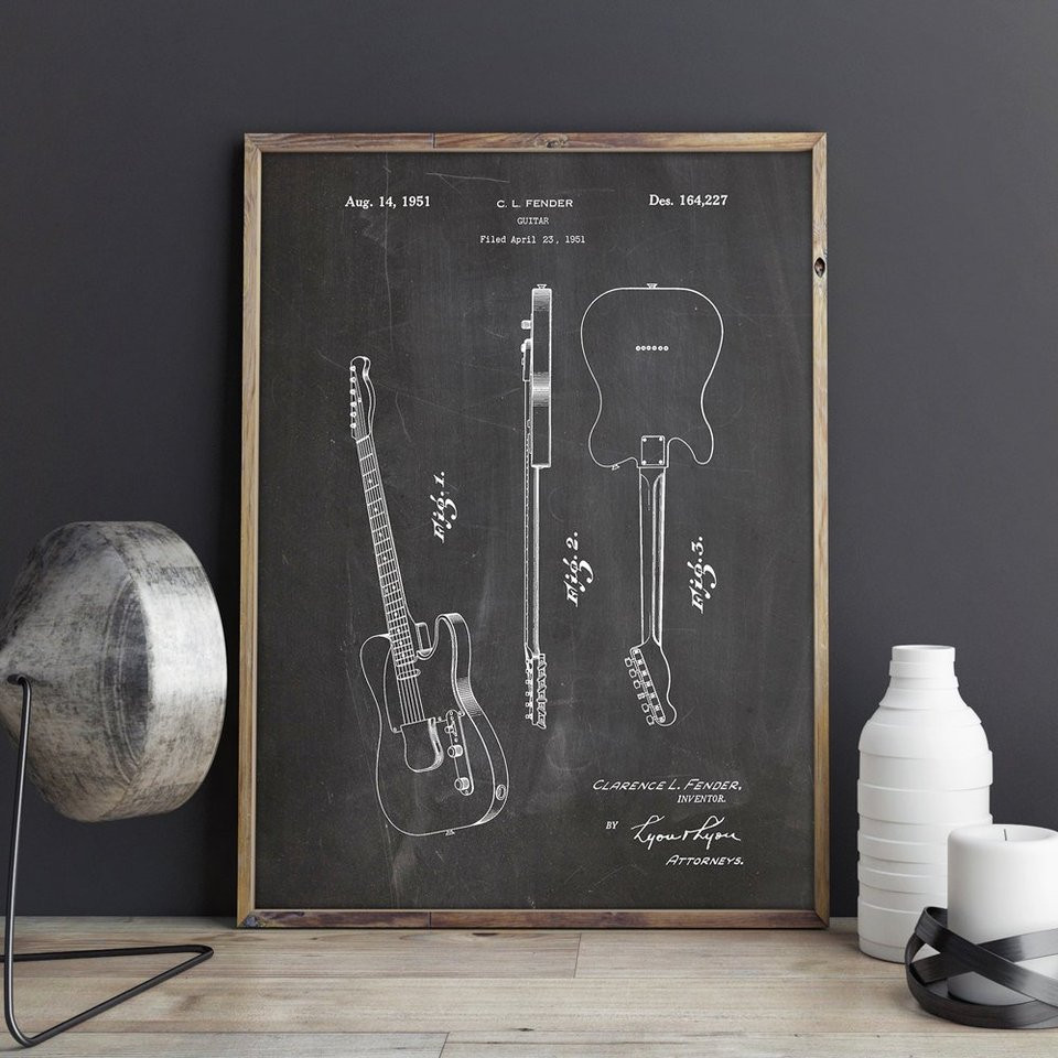 Fender Broadcaster Guitar Wall Clock-Free US Ship-Gibson