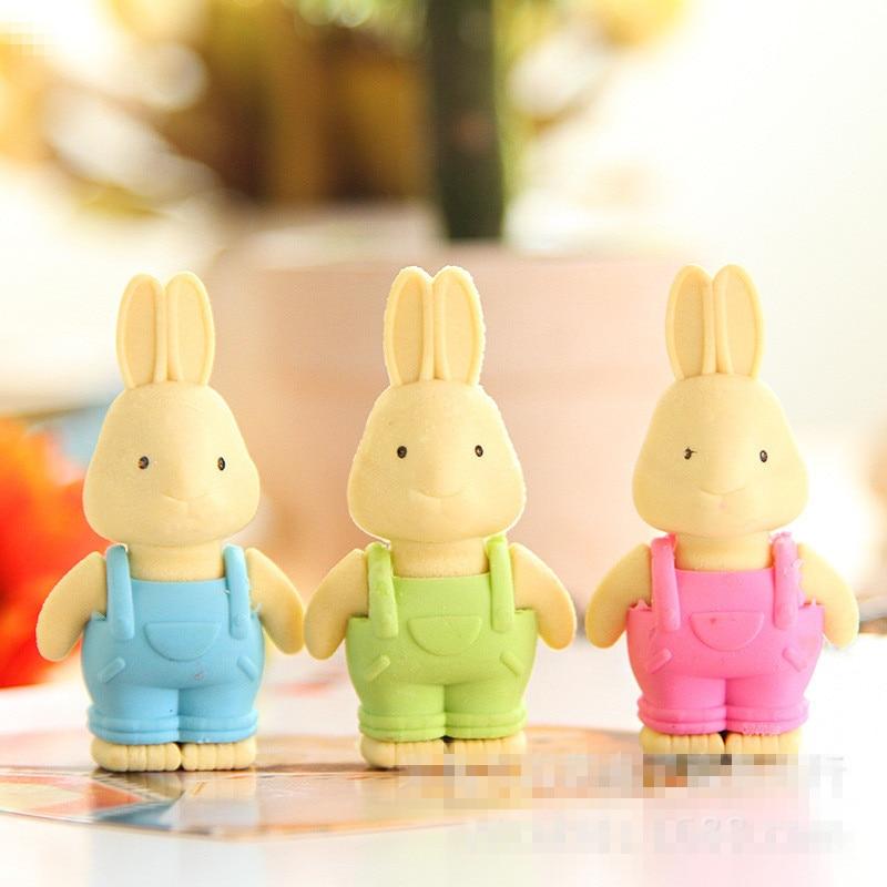 Cute Kawaii Cartoon TPR Eraser Lovely Rabbit Rubber Erasers For Pencil Kids Gift School Supplies Stationery Student 2230
