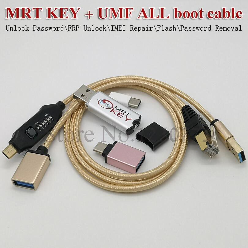 100% clé MRT Dongle mrt originale + câble UMF (câble multifonction ultime) tous les câbles de démarrage