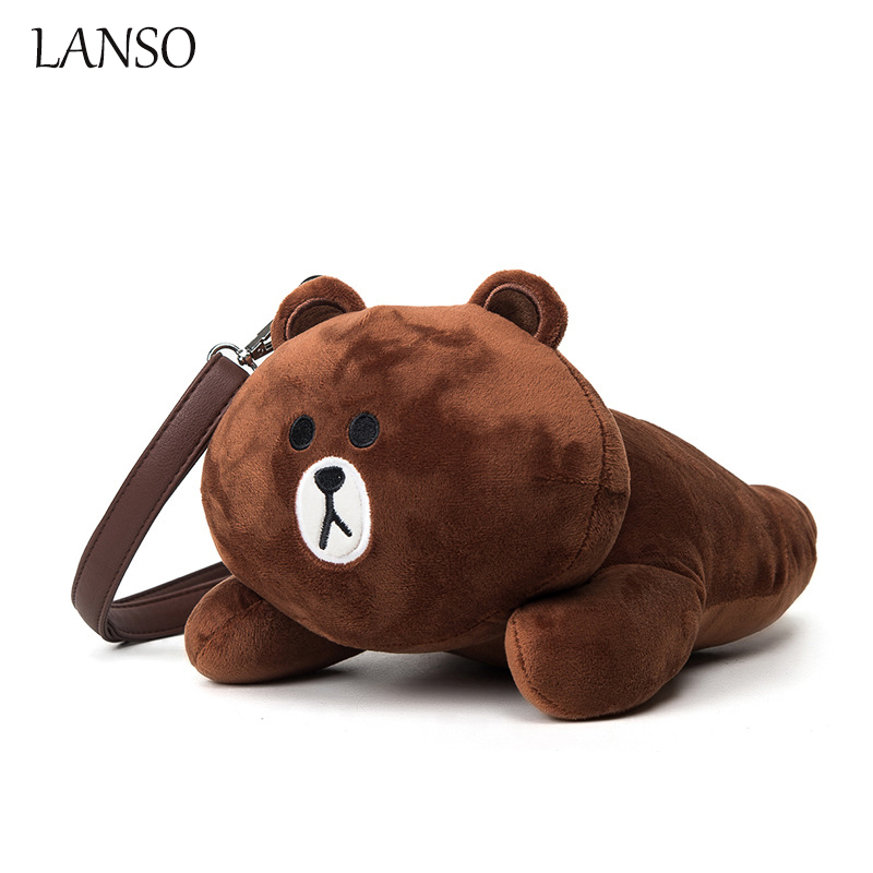 2016 Cartoon Bunny Bear Bag Autumn and Winter New Fashion Doll Shoulder Bags School Back Pack for Girls Kindergarten Teenagers