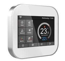 Termostato de pantalla táctil de color Wifi para calefacción eléctrica de 16 a con inglés/ruso/polaco/checo/italiano/España por teléfono android IOS