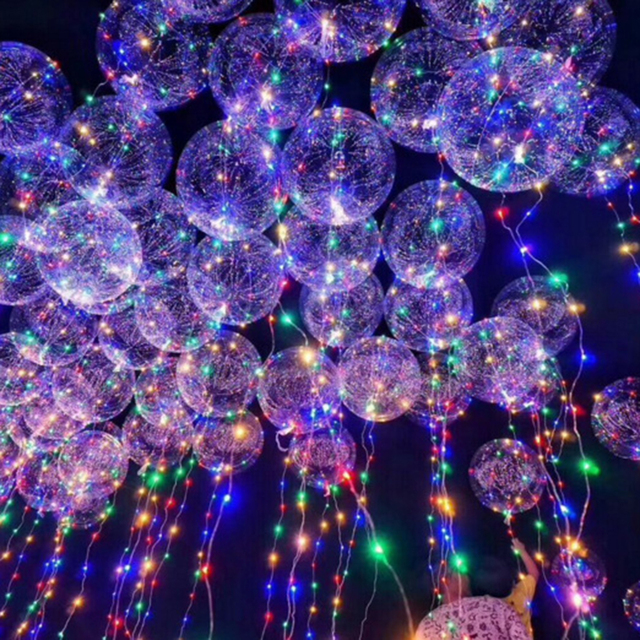 Transparent Latex Balloon with LED Garland