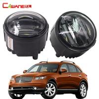 Cawanerl 1 Pair Car LED Left Right Fog Light Daytime Running Lamp DRL 12V Styling For