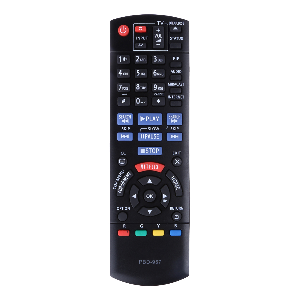 Replacement Remote Control FOR BLU-RAY DVD PLAYER Remote PBD-957 PBD957 for Panasonic Player DMP-BD75 DMP-BD755 Fernbedienung 1 pc new replacement tv remote control for samsung ak59 00172a for dvd blu ray player bd f5700 without battery