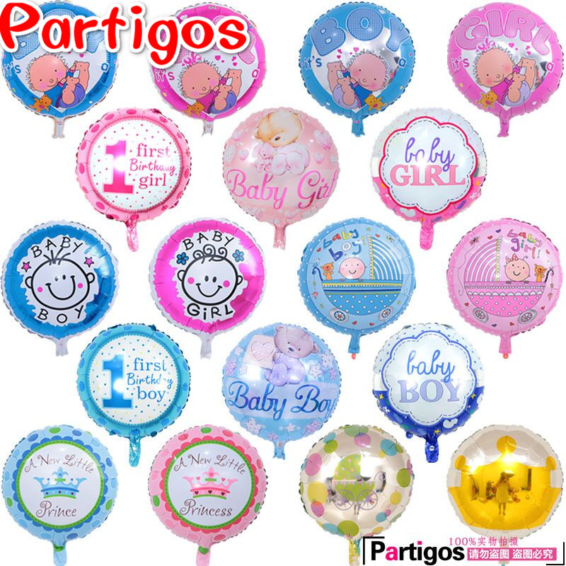 100pcs lot Mix baby balloons angel baby baby shower foil ballon for baby birthday party decorating