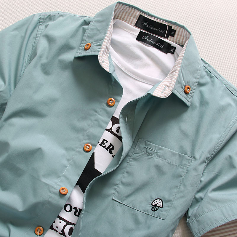 MarKyi plus size 5xl seta bordado para hombre de manga corta camisas - Ropa de hombre - foto 4