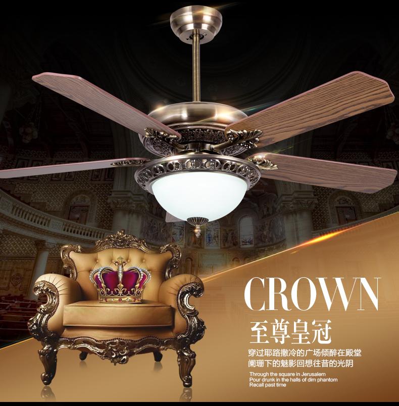 42 Zoll Deckenventilator Licht Wohnzimmer Esszimmer Europische Antike Vintage Led Fan Lampe Mit Fernbedienung