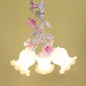 ร้านอาหารแสงโคมระย้าสไตล์ชนบทเหล็กดอกไม้พืชเด็กสามระเบียงตกแต่งงานแต่งงานwl324150