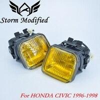 SuTong NEW Yellow Fog light / Fog lamp Smoke For HONDA CIVIC 96 98 2/3/4DR Driving Lamp Fog Light + Swith