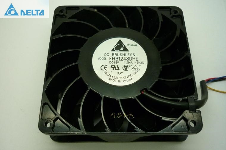 Delta 12038 FHB1248DHE 12cm 120mm DC 48V 1.54A inverter fan violence strong wind cooling fan original delta ffb1224she 12cm 120mm 12038 120 120 38mm 24v 1 20a cooling fan