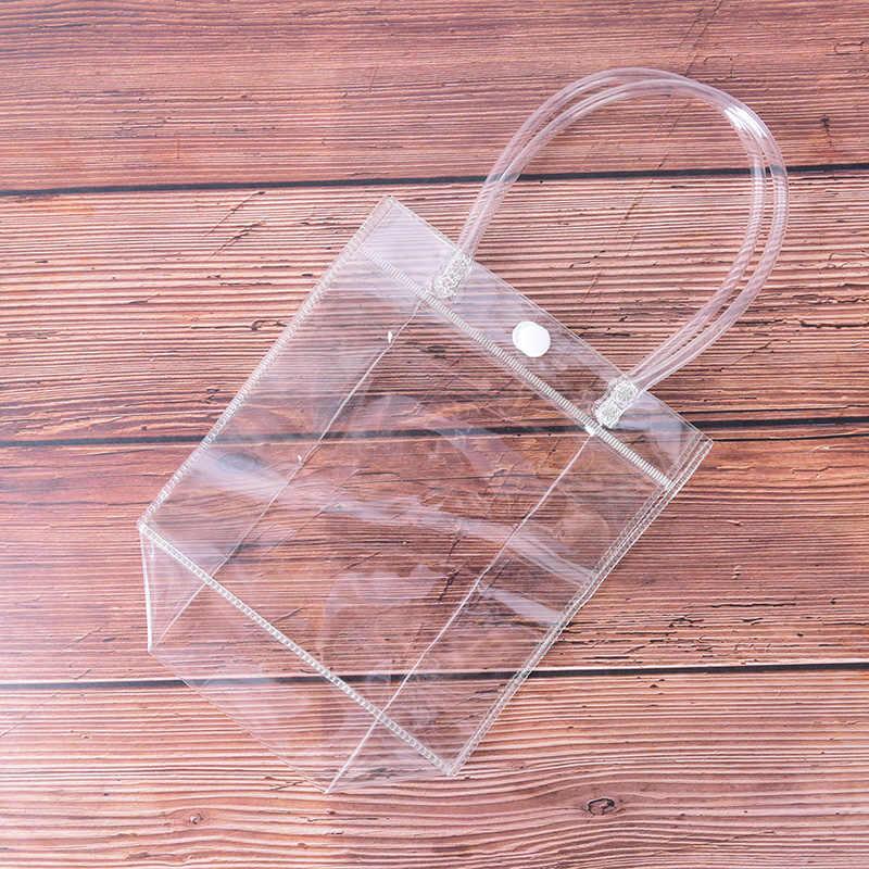 Женская прозрачная дорожная косметичка из ПВХ, прозрачные косметички для хранения косметики, органайзер для ванной, моющаяся косметичка, сумки-тоут, чехол