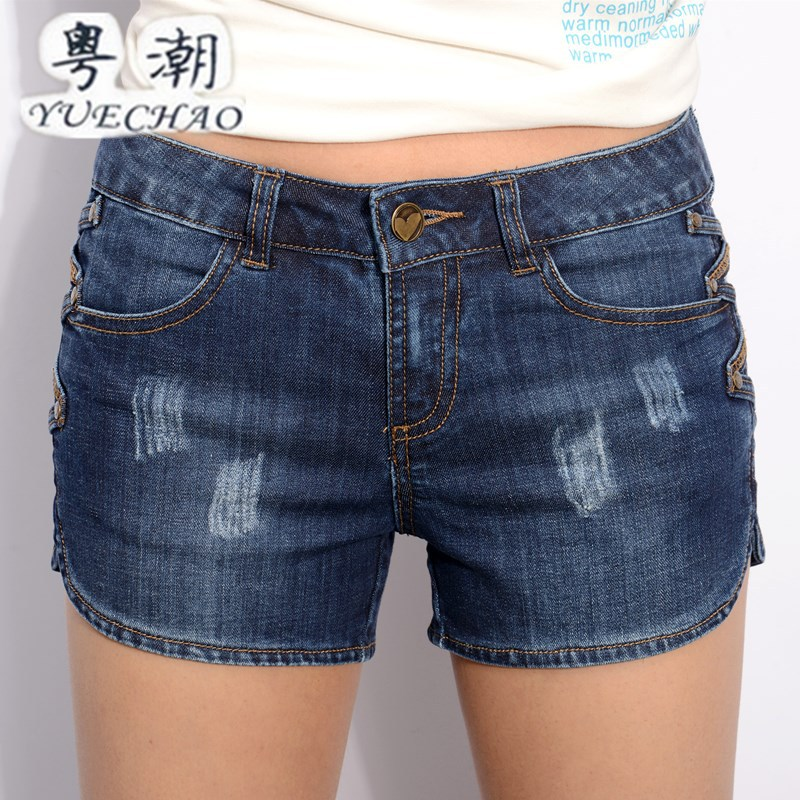 wangcangli new 2017 summer blue women s holes jeans female nail Korean loose large yards of