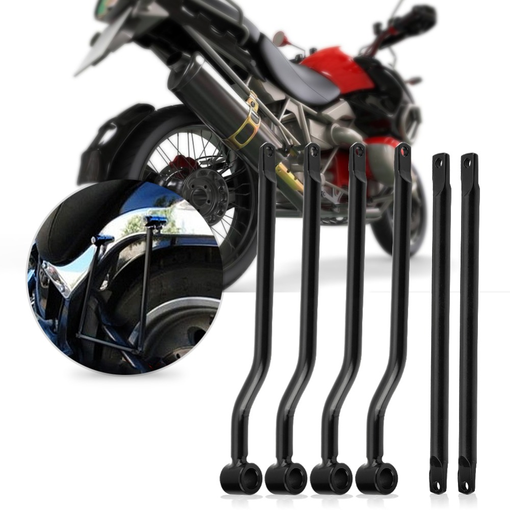 Motorcycle Saddlebag Support Bars Brackets Kit for Harley Honda Suzuki Yamaha Kawasaki Silver тормозные огни для мотоциклов buy4motor 100% harley suzuki yamaha honda 4112