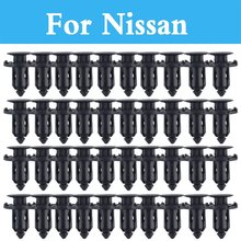9mm Hole Car Parts Panel Trim Clips Plastic Rivet Fastener For Nissan Qashqai Sunny Rogue Safari Sentra Skyline Crossover Stagea