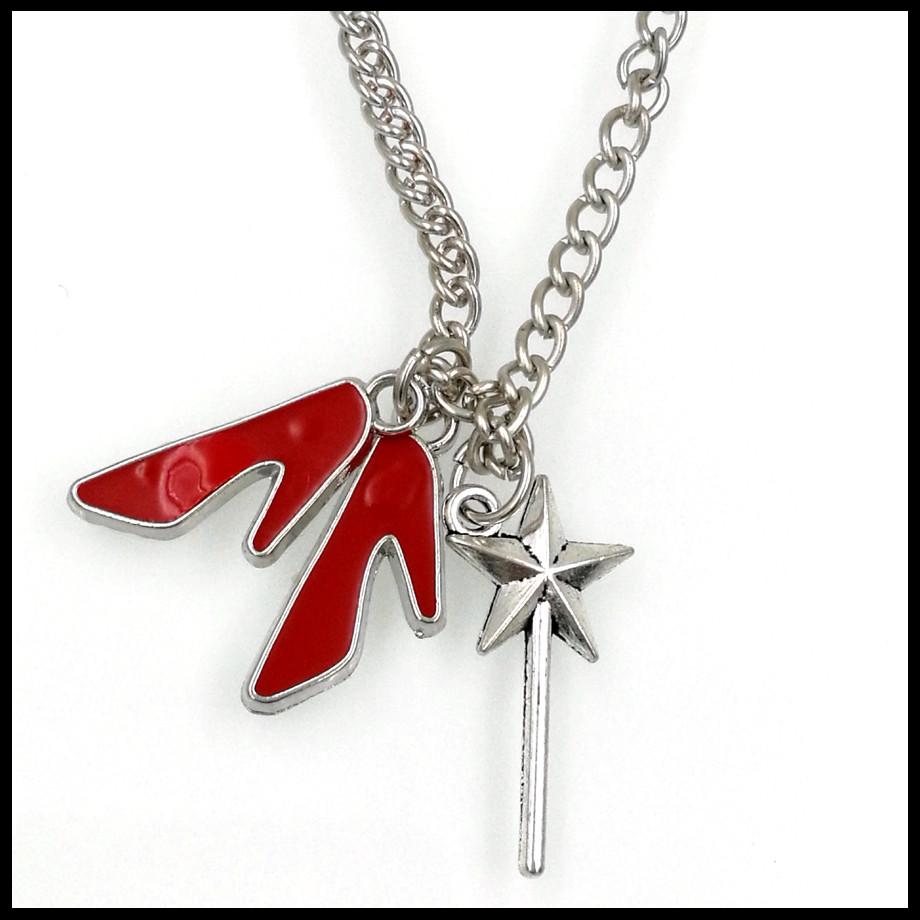 INSPIRational Wizard of OZ Dorothys red slipper movie wand necklace NW2043