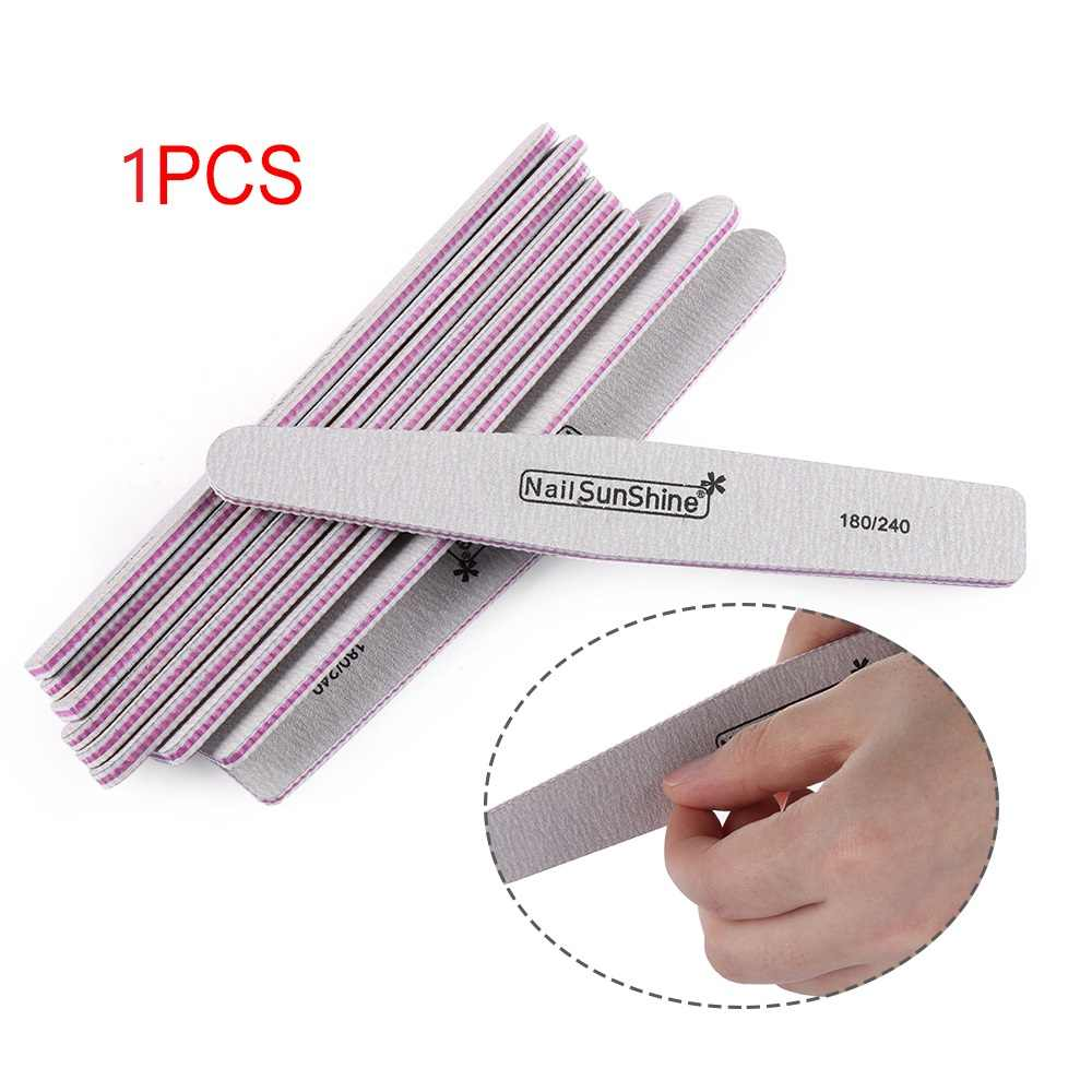 1Pcs Double Sided Nail Files Sanding Buffer Pedicure Manicure Professional Nail Care Beauty Tools 100/180/240 Pedicure Nail File