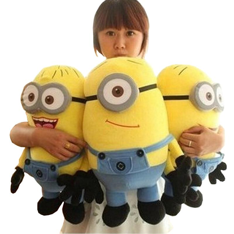 """גדול גודל 50 ס""""מ נתעב אותי 2 Minions בפלאש צעצועי סרט תינוק ילדים 20 אינץ Minion צעצועים ותחביבים חג המולד יום הולדת מתנה 1 יחידות"""