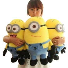 Big Size 50cm Despicable Me 2 Minions Plush Toys Movie Baby Kids 20inch Minion & Hobbies Christmas Birthday Gift 1pcs