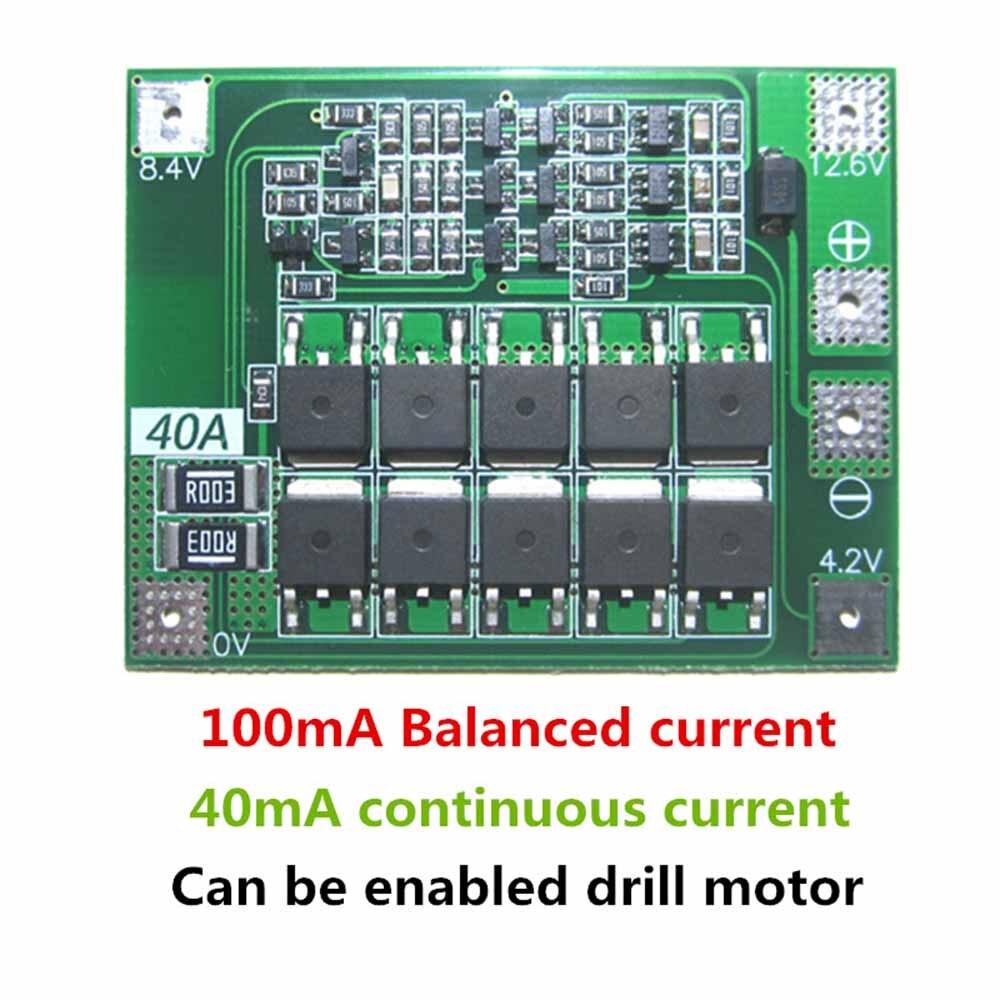 3 S 40A литий-ионный Батарея Зарядное устройство <font><b>lipo</b></font> pcb модуля ячейки защиты БМС доска для буровых Двигатель 12.6 В с баланс