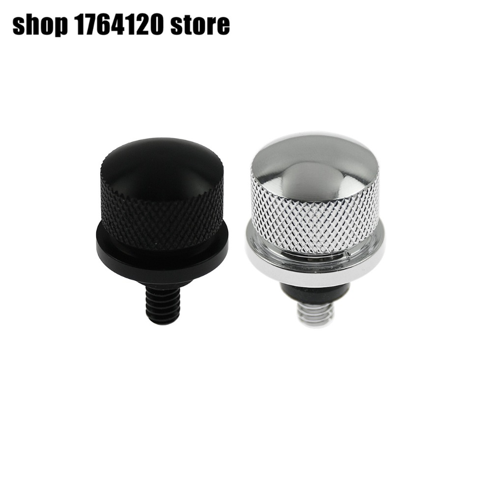 Chrome Stainless Steel Rear Fender Seat Bolt Nut For Harley Touring Softail Dyna