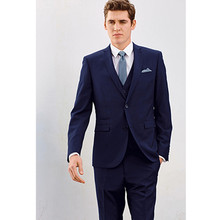 tuxedo for wedding suits blue groom wear 3 piece suits wool bleed dress high quality tailor suit