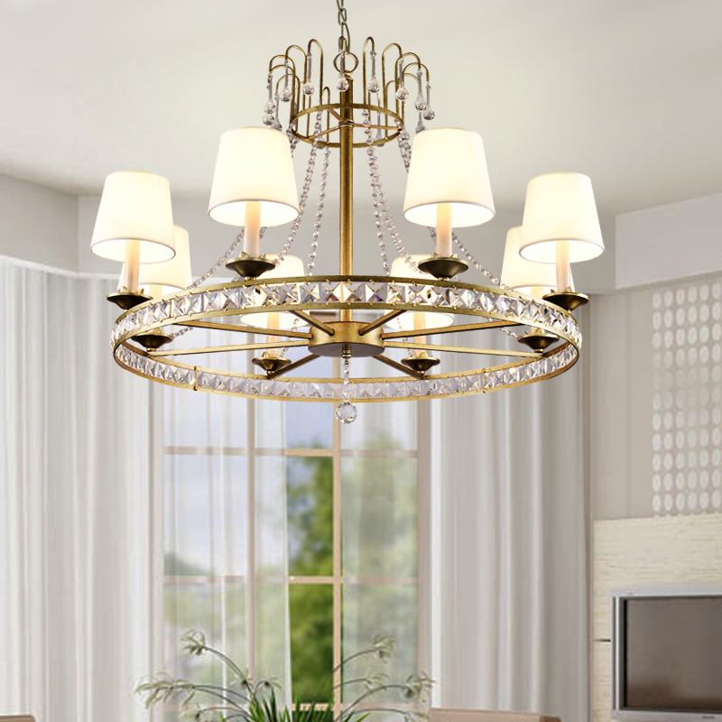 europe American French wrought iron crystal pendant light  living room retro personalized dining room bar hanging light lampeurope American French wrought iron crystal pendant light  living room retro personalized dining room bar hanging light lamp