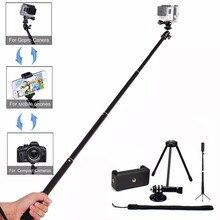 LANBEIKA For Gopro 36″ Handheld Telescoping Selfie Stick Kit Monopod Tripod Holder Pole For Gopro Hero 5 4 3+ SJCAM Phones DRSL