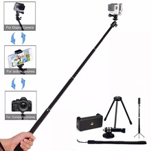 On sale LANBEIKA For Gopro 36″ Handheld Telescoping Selfie Stick Kit Monopod Tripod Holder Pole For Gopro Hero 5 4 3+ SJCAM Phones DRSL