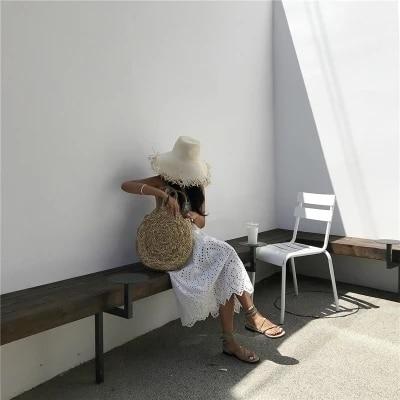 2018 Brand New Bohemian Straw Bags for Women Big Circle Beach Handbags Summer Vintage Rattan Bag Handmade Kintted Travel Bags 3