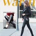 Взрыв пункт женщины не падают толстая шерсть искусственная кожа брюки Леггинсы носили эластичные теплые кожа trous