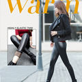 Explosion paragraph women do not fall down thick wool imitation leather pants Leggings wore elastic warm leather trous