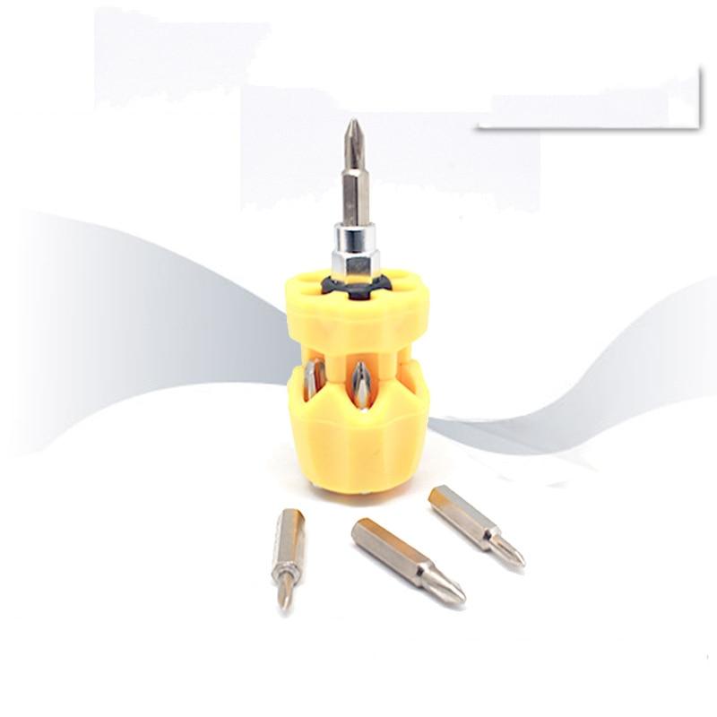 7 in 1 radish head mini screwdriver multi function manual screwdriver gift screwdriver bit set screwdriver set in Screwdriver from Tools