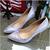 W-envío de la nueva 2016 muchachas de la manera Occident zapatos solo de las mujeres zapatos de tacón alto patrón de la serpiente bombas de punta estrecha zapatos mujer