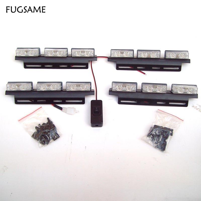 Transporti FUGSAME FALAS Super Bright 4 * 6 LED Car Strobe Light High - Dritat e makinave - Foto 3