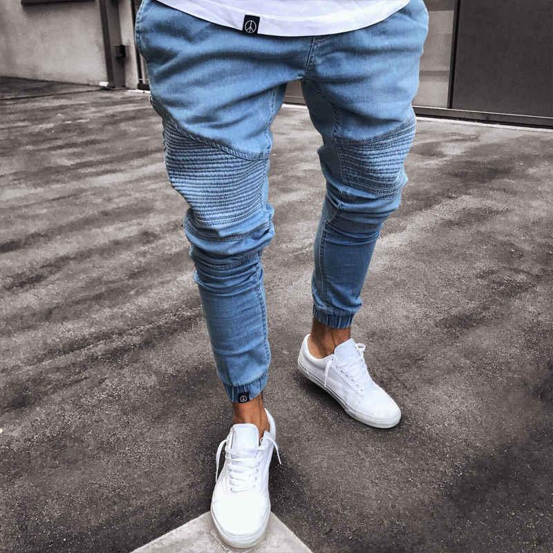 Pantalones Vaqueros Finos Informales De Moda Juvenil Con Agujeros Para Hombre Pantalones Vaqueros Con Pies Elasticos Pantalones Vaqueros Ajustados 3xl Para Hombre Pantalones Vaqueros Aliexpress