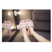 Slippers Women Ladies shoes Slip On Slider Fluffy Faux Fur Flat New Fashion Female Casual Slipper Flip Flop Sandal Zapatos Mujer