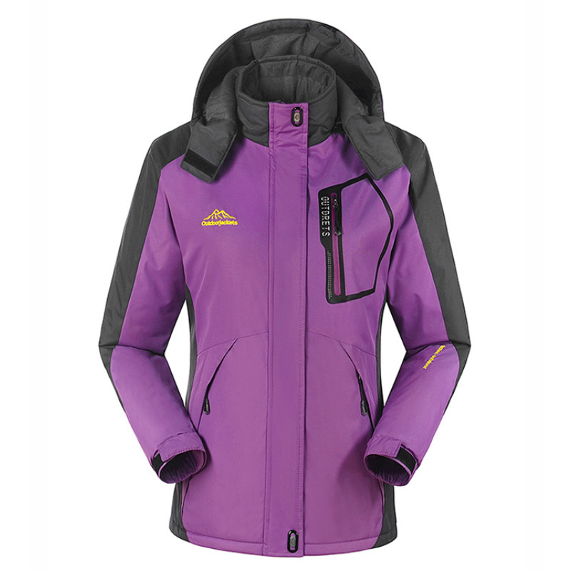 outdoor Women's Thicken Plus cashmere Ski Jacket Snowboarding keep Warm Waterproof Windproof Breathable camping hiking Jackets men skiing jackets warm waterproof windproof cotton snowboarding jacket shooting camping travel climbing skating hiking ski coat
